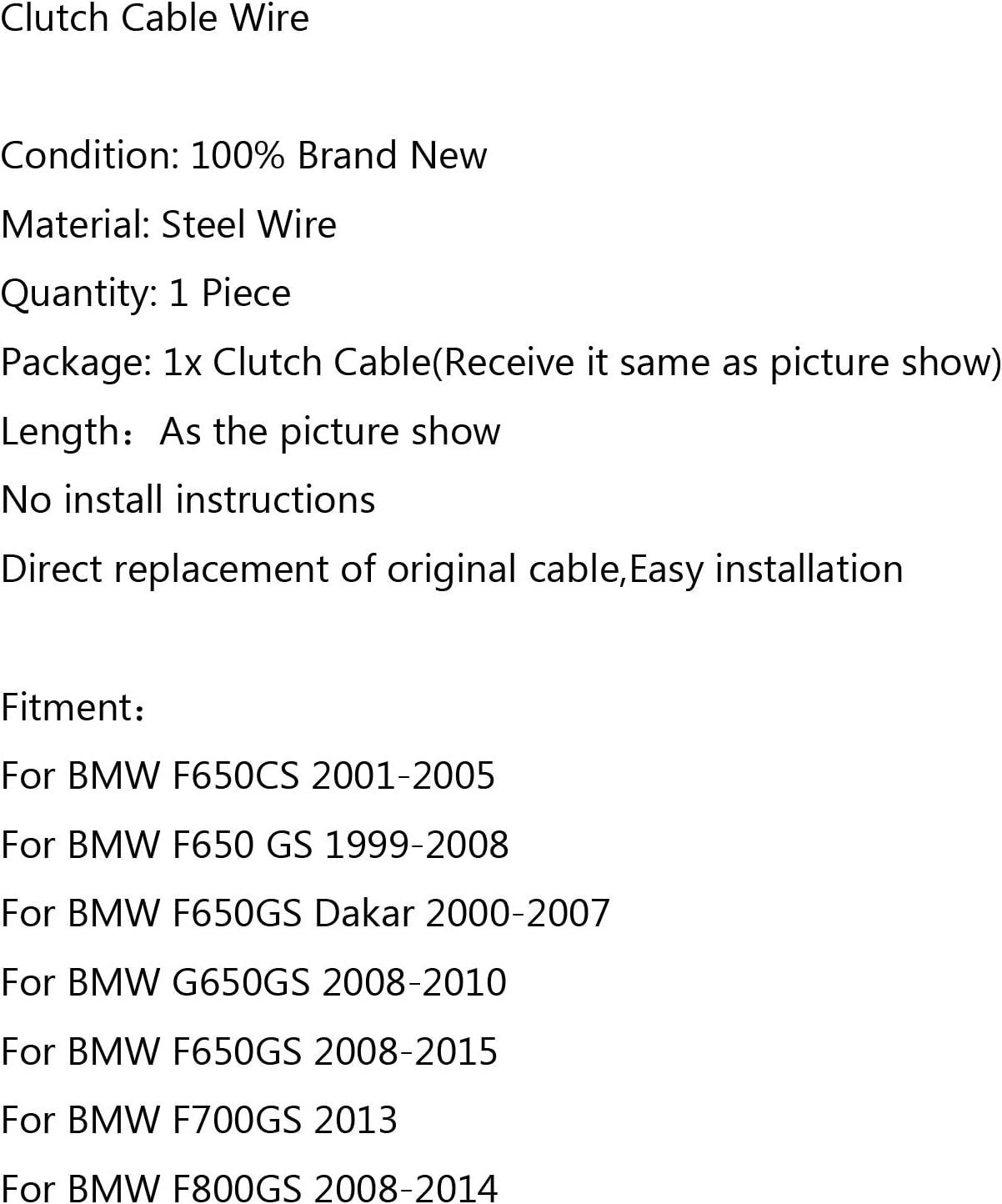 Topteng cavo frizione in acciaio di ricambio per B-M-W F650CS 2001-2005 F800GS 2008-2014