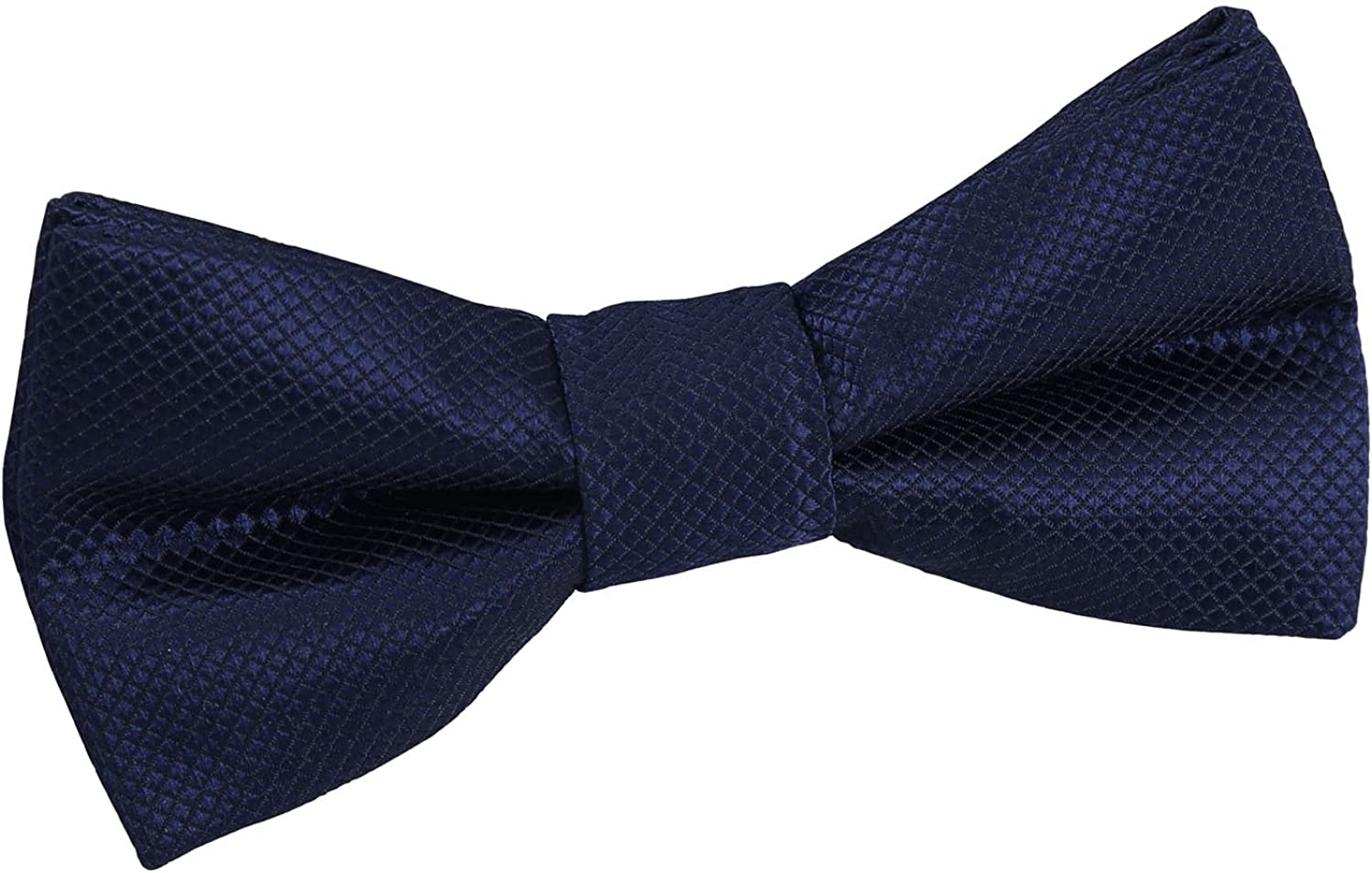 DQT Solid Check Plain Formal Wedding Prom Tuxedo Pre-Tied Bow Tie for Boys in Various Colours