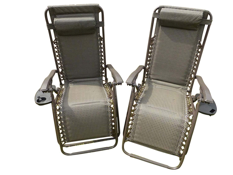 UK-Gardens Juego de 2 sillas de jardín reclinables para Tumbona, Impermeables, Plegables y multiposición, con reposacabezas, marrón