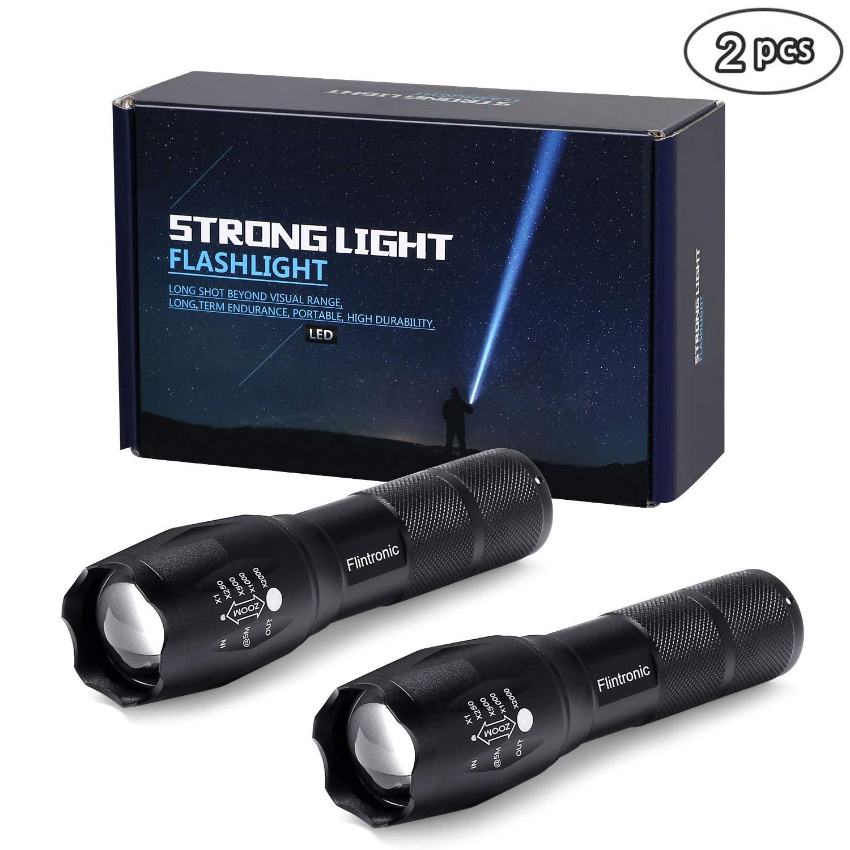 flintronic 5PACK Lampe de poche tactique LED, Luminosité de 200 Lumens de 2*AAA Piles alcalins Alimentation