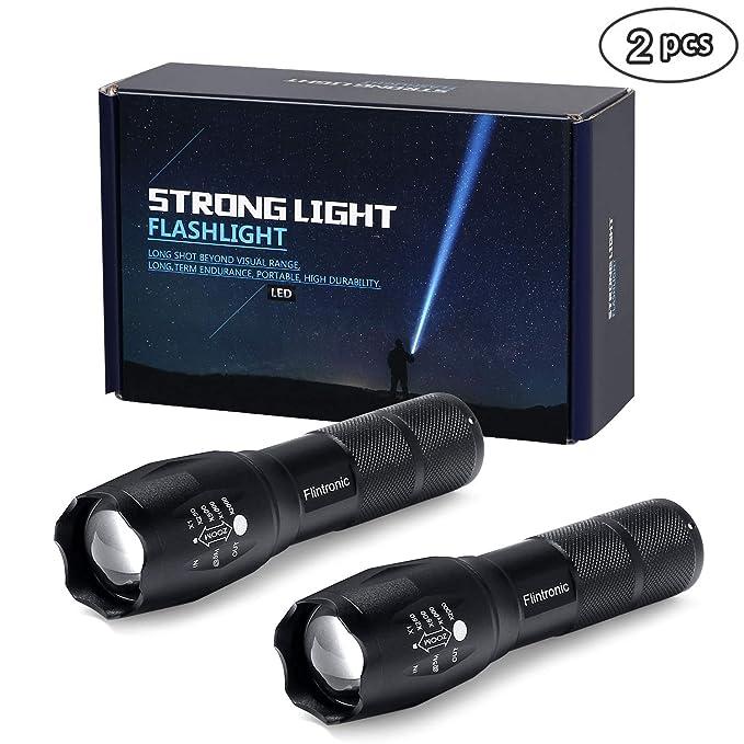 11 opinioni per flintrinic® LED Torcia, 2PCS Torcia Tattica, 5 Modalità Impermeabile Messa a