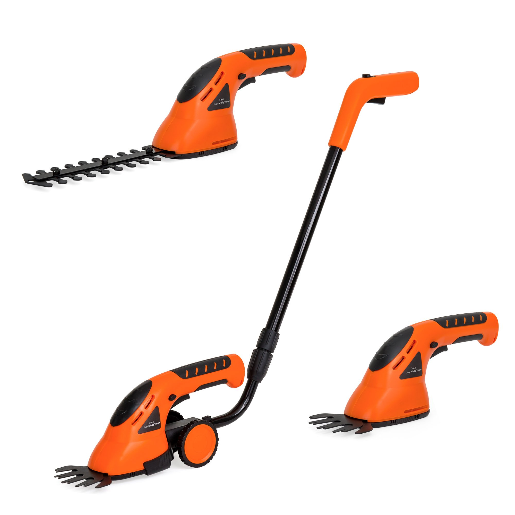 Best Choice Products 7.2V 2-in-1 Cordless Rechargeable Electric Grass & Hedge Trimmer with 2 Blades