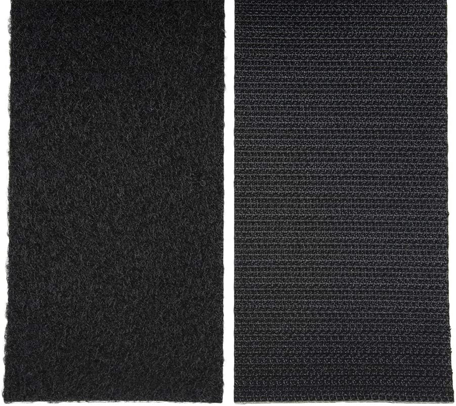 5.5 Yards Denser 1 Inch Hook and Loop Tape Sticky Back 16.5 Feet - Strips Adhesive Heavy Duty Black Roll 1 inch 16.5 ft