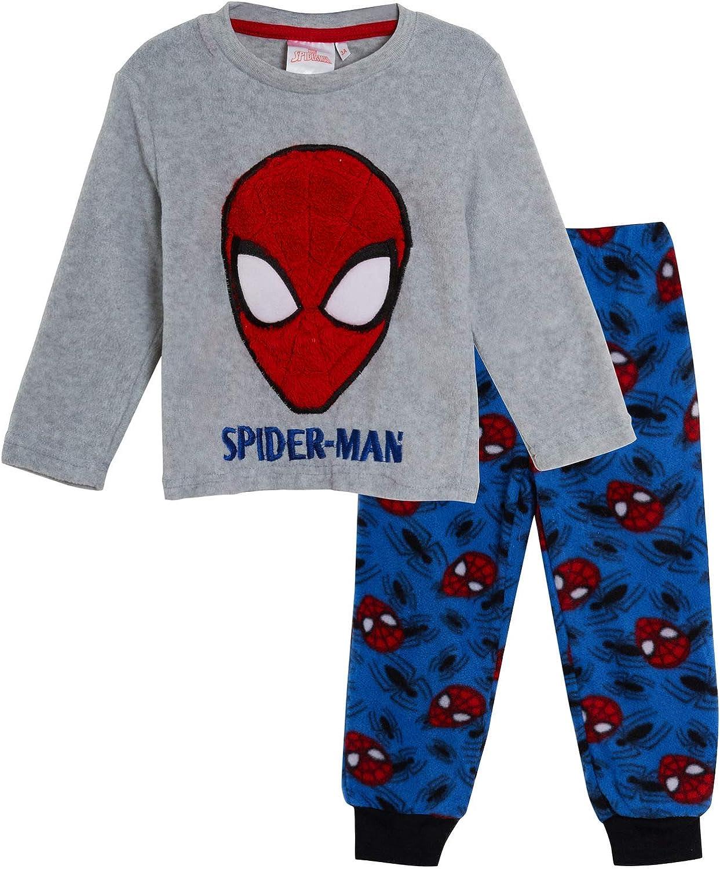 Marvel Pigiama in Pile Spiderman per Bambini Avengers Twosie Lounge Set Regalo