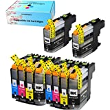 F FINDERS&CO Compatible Ink Cartridges Replacement for Brother LC203 LC201 LC203XL Ink Cartridge, Use with MFC-J480DW MFC-J680DW MFC-J880DW MFC-J485DW MFC-J4620DW MFC-J5720DW (4BK 2C 2M 2Y, 10 Pack)