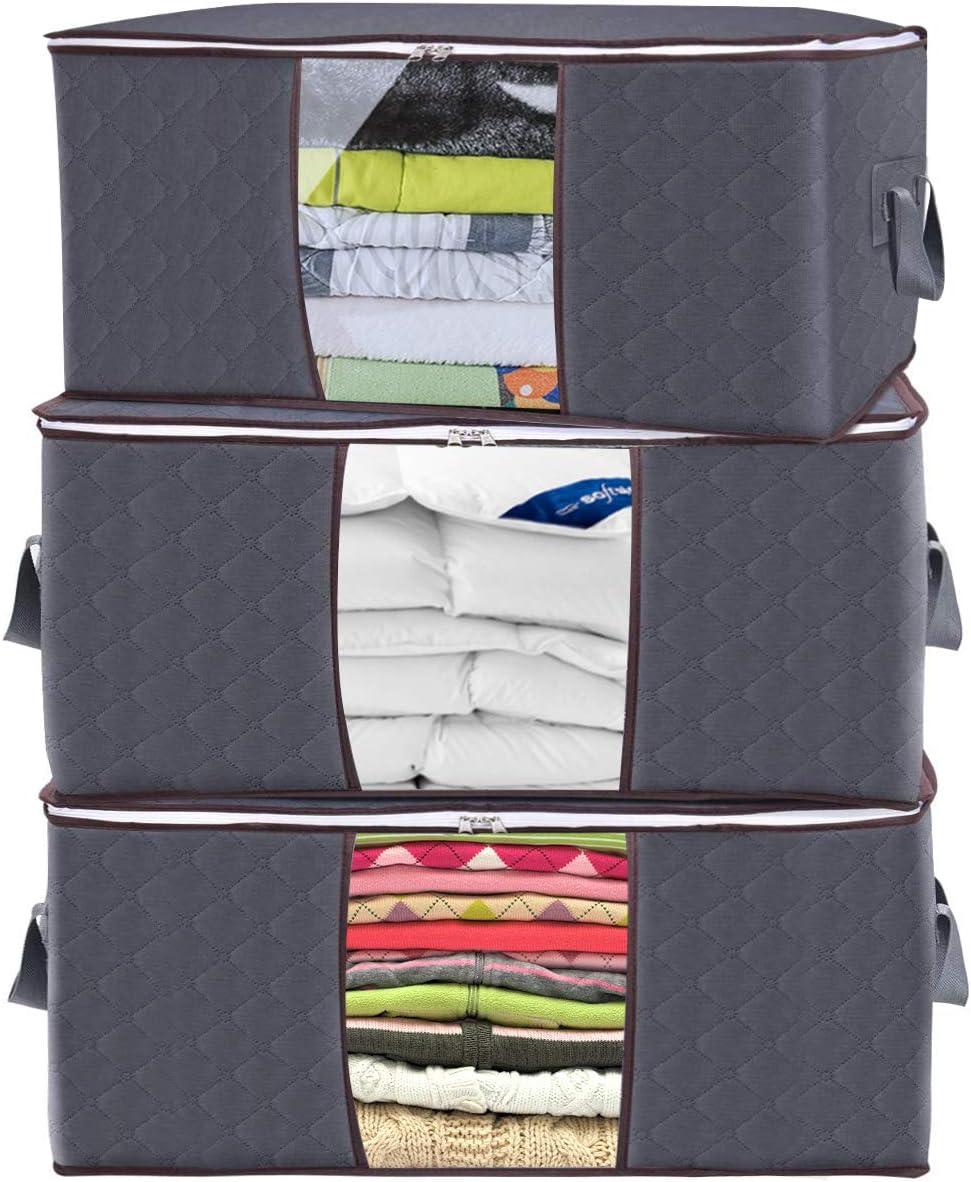 Foldable Non-woven Clothes Quilt Blanket Zipper Storage Bag Organizer Practical