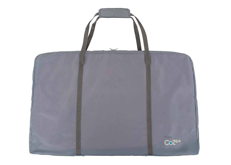Tutti Bambini CoZee/® Luftmatratze f/ür Nachttisch mit atmungsaktivem Fenster Eiche und Anthrazit Reisetasche und leicht zusammenklappbar