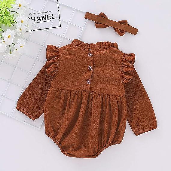 c2815be99cec Amazon.com  BabiBeauty Twins Baby Girls Sleeveless Romper Infant Girls  Ruffles Jumpsuit Onesies with Headband  Clothing
