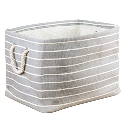 InterDesign Luca Fabric Storage, Bin With Handles For Blankets, Pillows,  Clothing, Towels