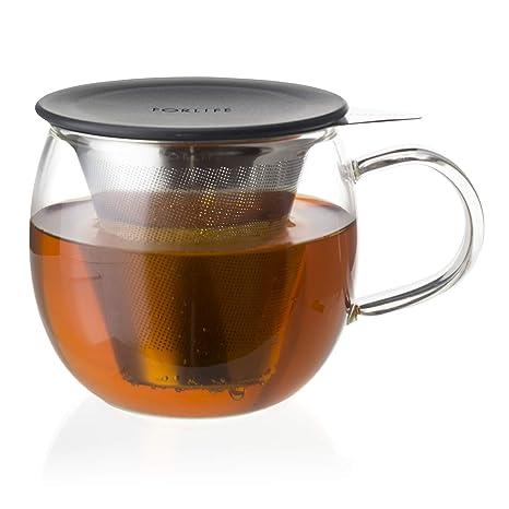 Amazon.com: Forlife Lucidez brew-in-cup de vidrio con acero ...