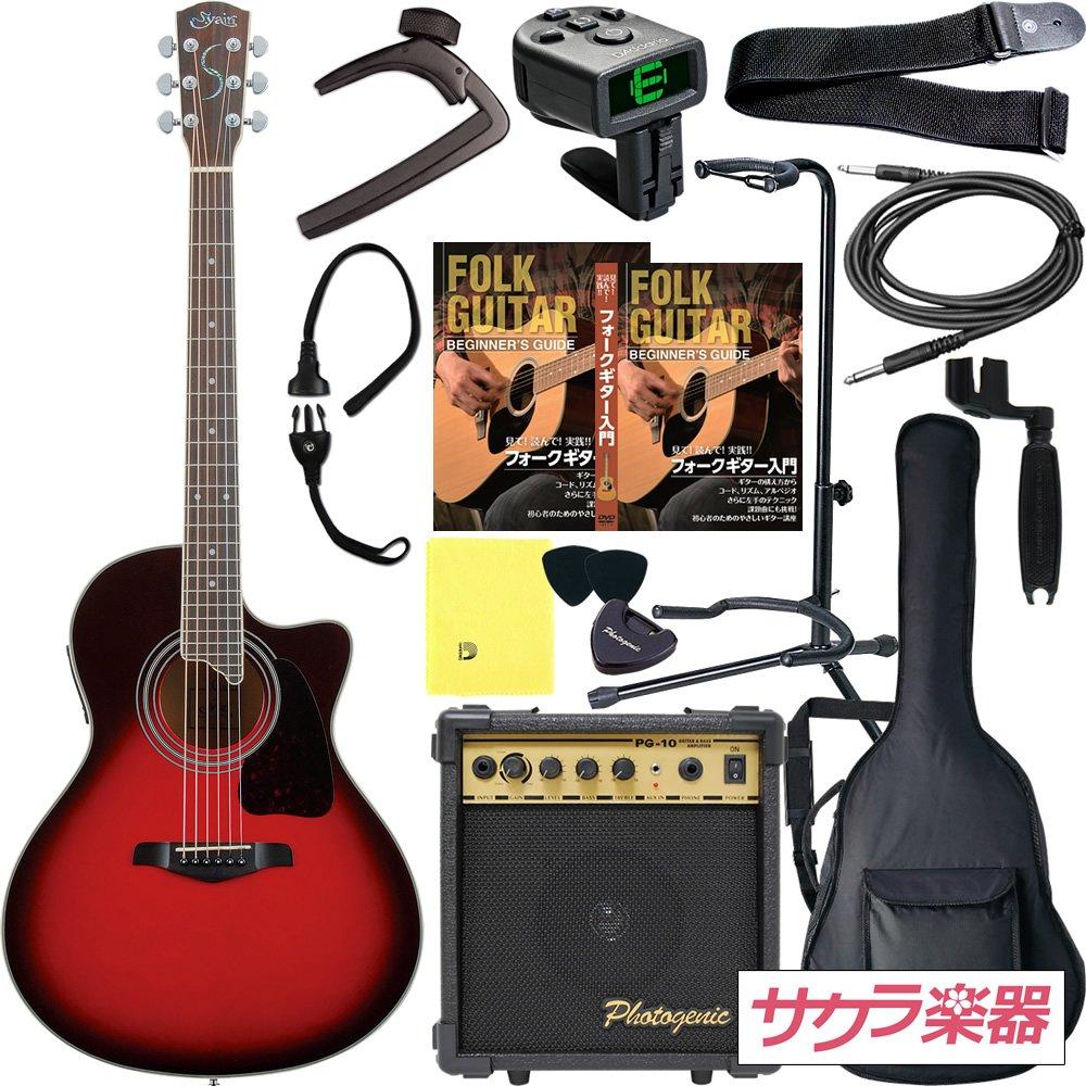 S.Yairi ヤイリ アコースティックギター エレアコ YE-4M/WB サクラ楽器オリジナル PW入門セット[Planet Waves小物セット] B0096IZFD4 WB WB