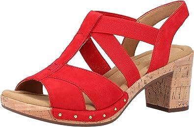 Nu pieds fille GABOR Rouge