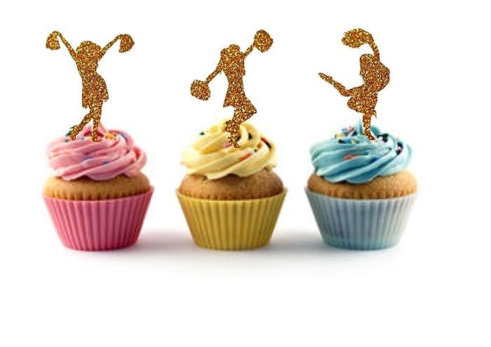 Amazon Cheerleader Birthday Cheerleader Cupcake Toppers
