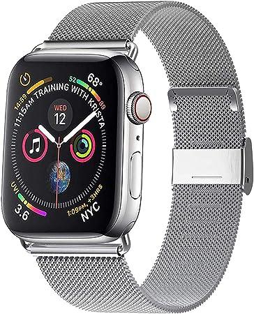 Image ofWaband Correa del Reloj Compatible con Smart Watch de 38mm 40mm 42mm 44mm, Pulsera para Reloj de Reemplazo de Acero Inoxidable con Imán para Watch Series 5/4/3/2/1