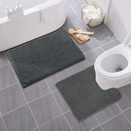 Mayshine Bathroom rug toilet sets and Shaggy Non slip Machine washable Soft