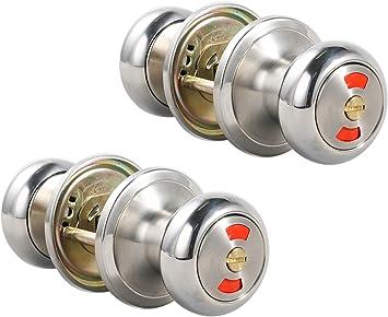 Construction Grade Color Brass 24 Privacy Lock Door Knobs