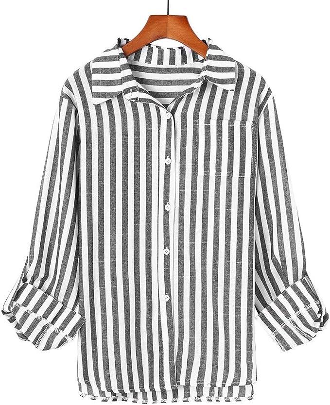 COZOCO Camisa Casual para Mujer Camisa De Manga Larga ...
