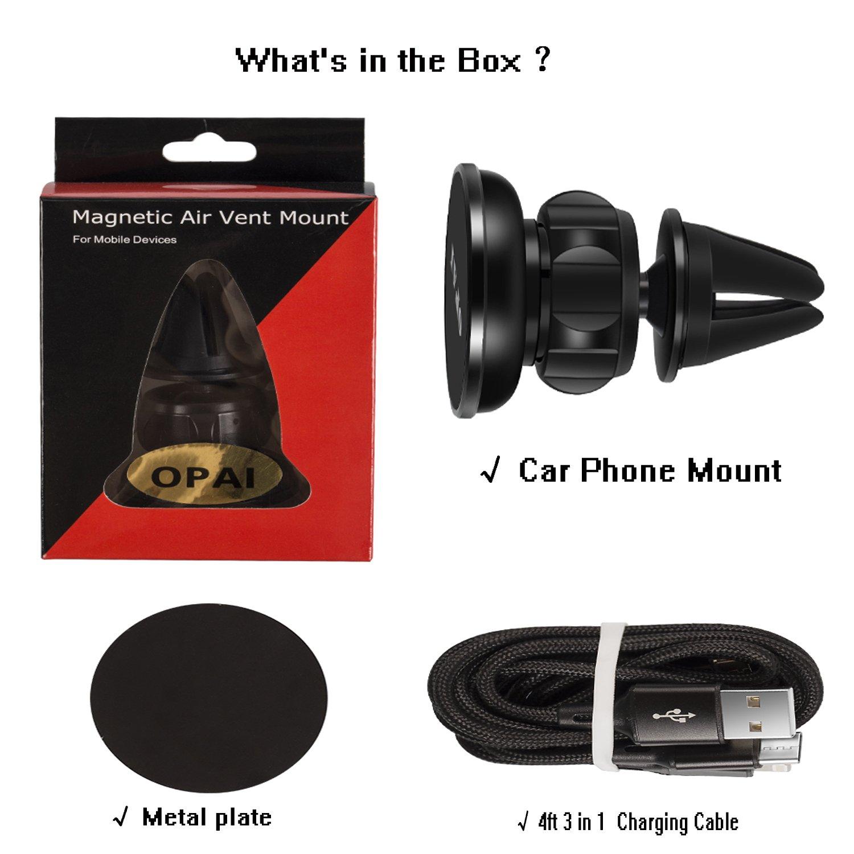 Amazon.com: Air ventilación magnética soporte de coche, Opai ...