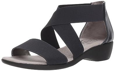 LifeStride Women's Tellie Flat Sandal, Inky Navy, ...