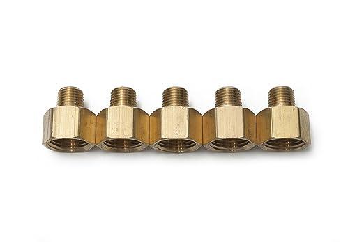 Sin Marca 1//4 Hembra x 1//8 Macho NPT adaptador Tubo de lat/ón accesorio de conexi/ón para conectar combustible gas aire 5 piezas