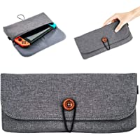 JJC NSW-1GR Dedicated Soft Compact Carring Case for Nintendo Switch & Joy-Cons, with 6 Slots for Game Card Storage