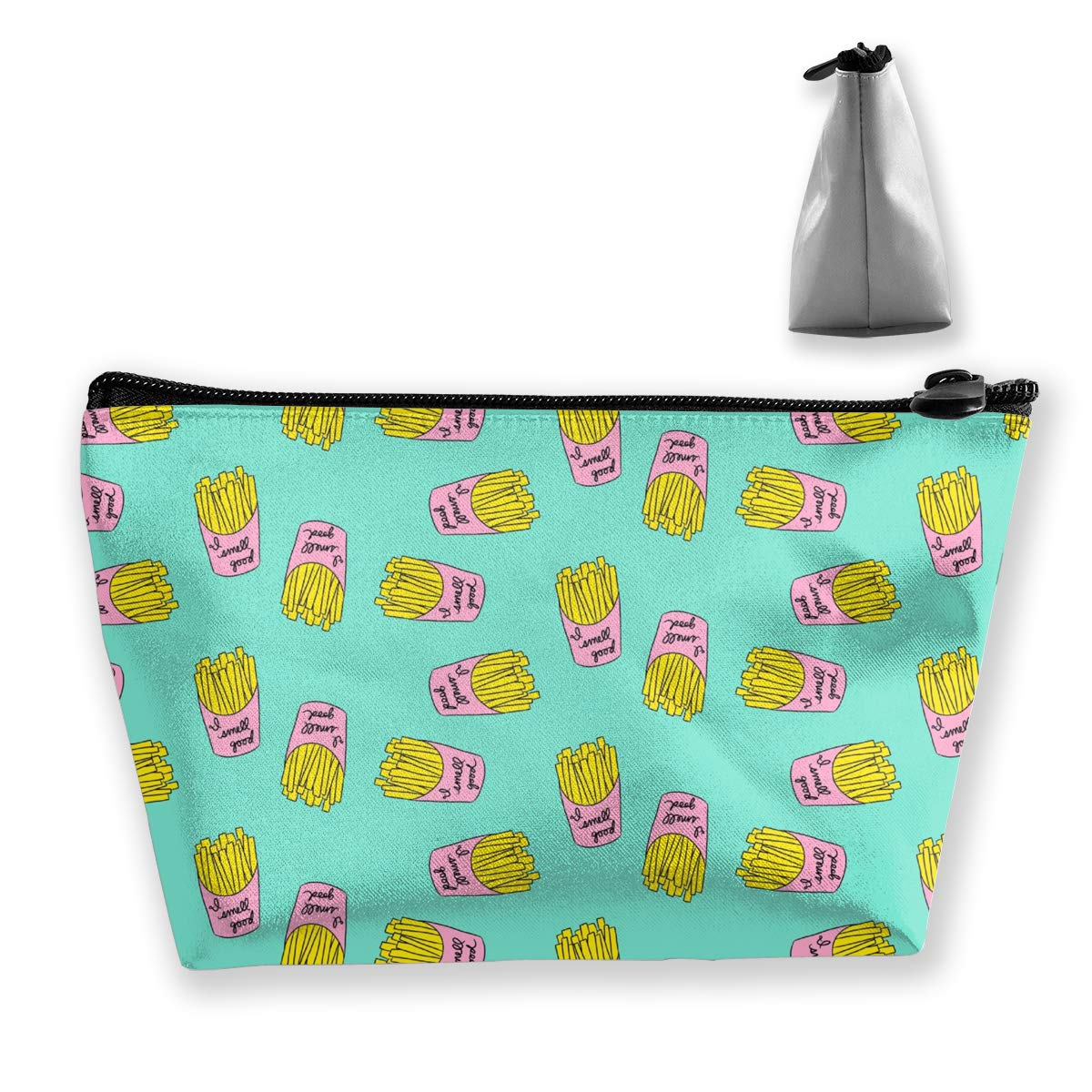 Trapezoid Toiletry Pouch Portable Travel Bag Fries Pattern Clutch Bag