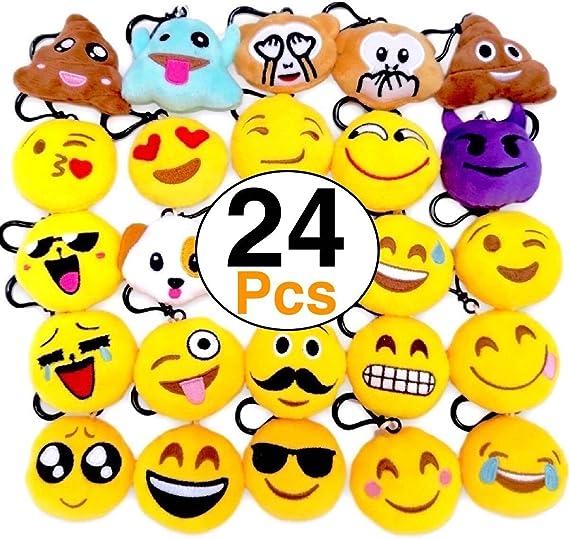 Amazon.com: O hill 24Pack Emoji Felpa almohadas Mini ...