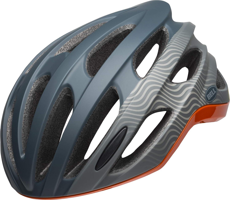 BELL Formula Rennrad Fahrrad Helm blau grau Orange 2019
