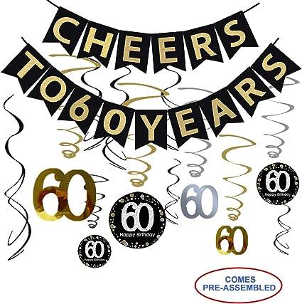 Amazon.com: Kit de decoración para fiesta de 60 cumpleaños ...