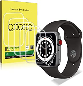 [6 Pack] QHOHQ Screen Protector for Apple Watch Series 6/Watch SE 40mm, [Full Coverage] [Bubble-Free] Flexible TPU Anti-Scratch Transparent Soft Film