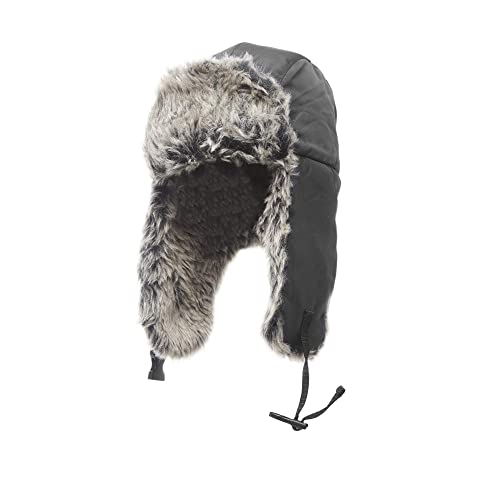 Heat Edge Mens Winter Warm Adjustable Trapper Hat with Faux Fur Lining - Aviator  Russian Ushanka 5d8359e0954d