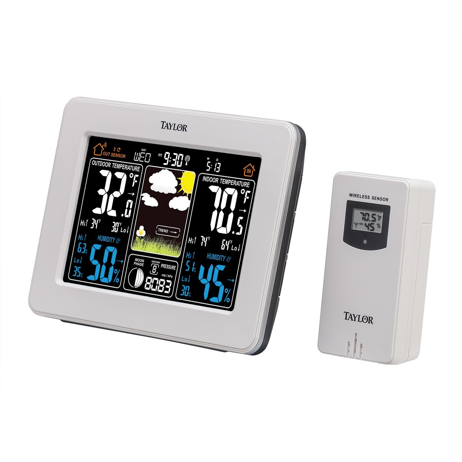 Taylor Wireless Digital Deluxe Color Weather Station Forecaster