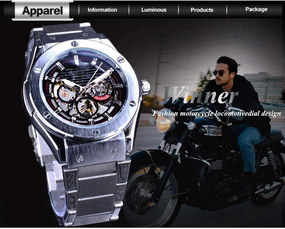 Liandd Fashion Luxury Series Luminoso Design Rose Golden Case Uomo Guarda Top Brand Tourbillion Diamond Display Automatico Orologio E