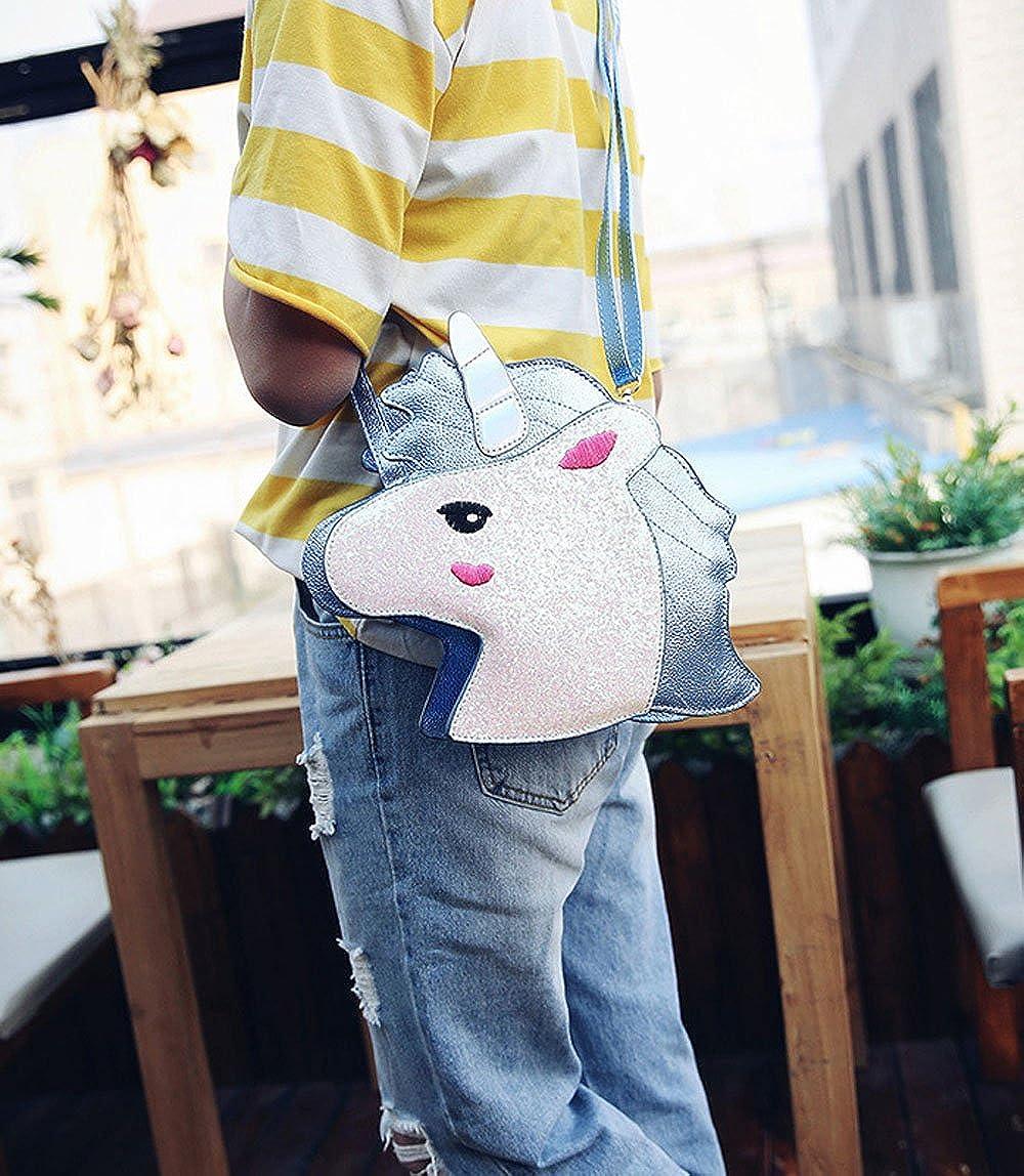 Amazon.com: Bolso bandolera para mujer, diseño de unicornio ...