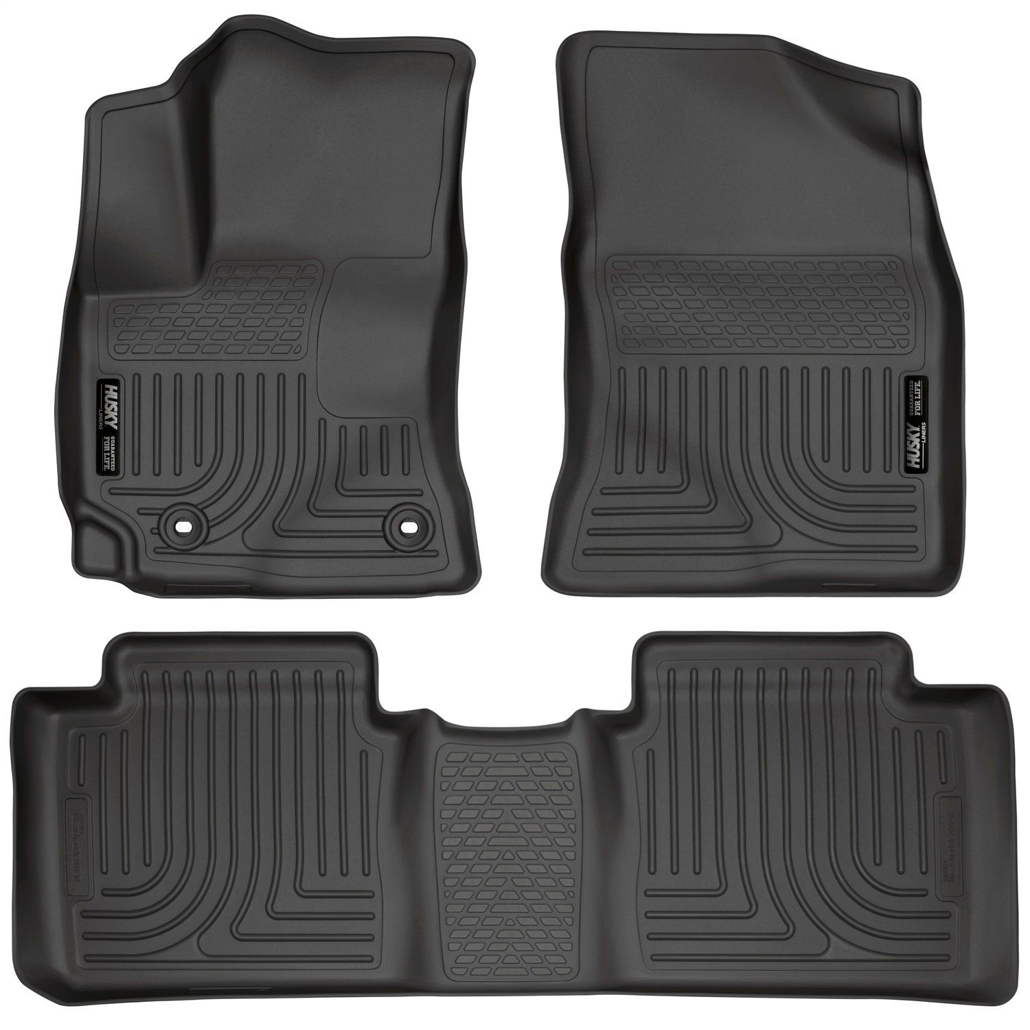 Amazon.com: Husky Liners Front & 2nd Seat Floor Liners Fits 14-18 Corolla:  Automotive