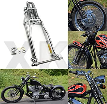 XKMT-SPRINGER FRONT END B07M5HT7F6 4 OVER STOCK LENGTH WISHBONE Compatible With HARLEY /& CUSTOM BIKE