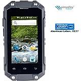 simvalley Mobile Outdoor Handy: Mini-Outdoor-Smartphone SPT-210 mit Dual-Sim und Android 5.1, IP65 (Dual Sim Handy)