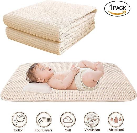 CCDYLQ Bebé Impermeable Almohadilla de Cama Reutilizable, Almohadillas de la incontinencia Lavable sábanas de algodón orgánico 4 Capas Protectoras, Protector para bebés niños, tamaño 180 * 200 cm: Amazon.es: Hogar