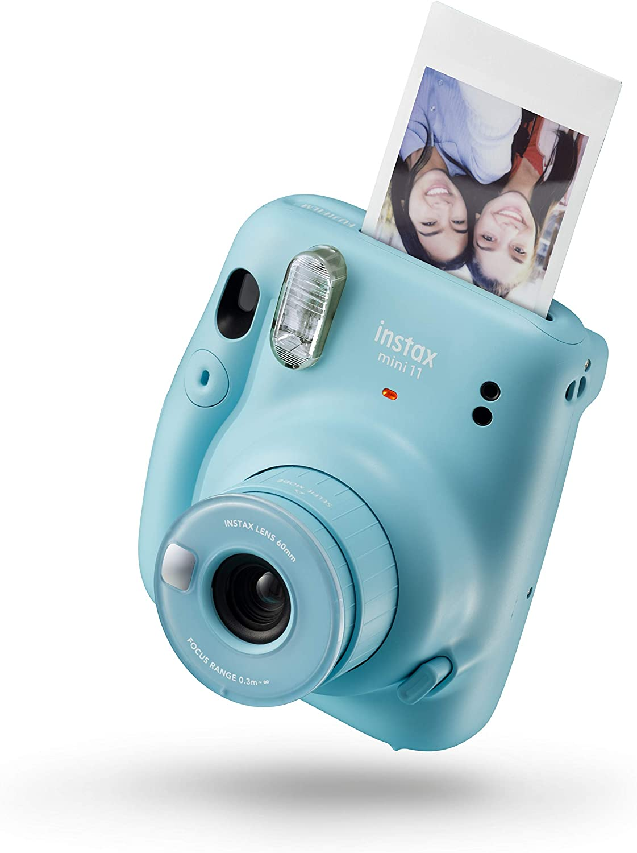 Instax 16654956 Mini 11 - Cámara Instantánea, Sky Blue, Compacto