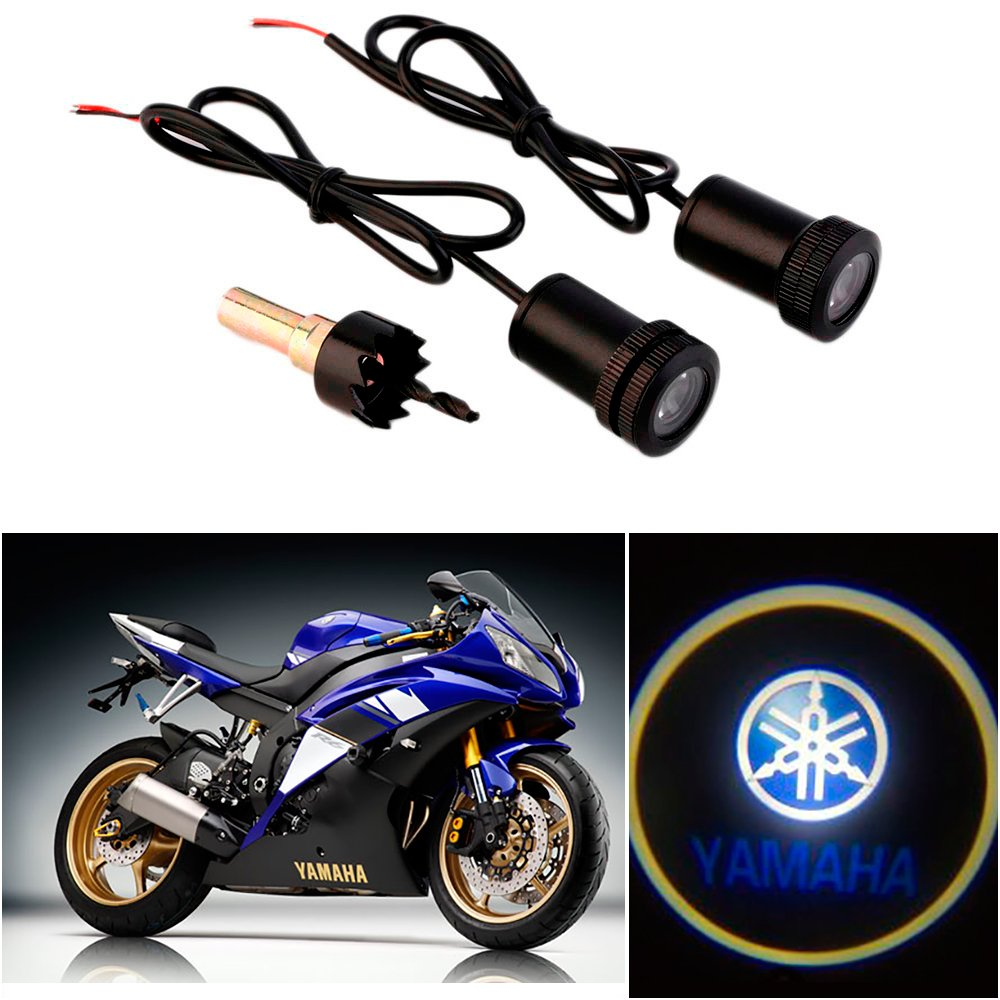 Amazon.com: CHAMPLED For YAMAHA Motorcycle Laser Projector Logo ... for projector lamp for bikes  61obs
