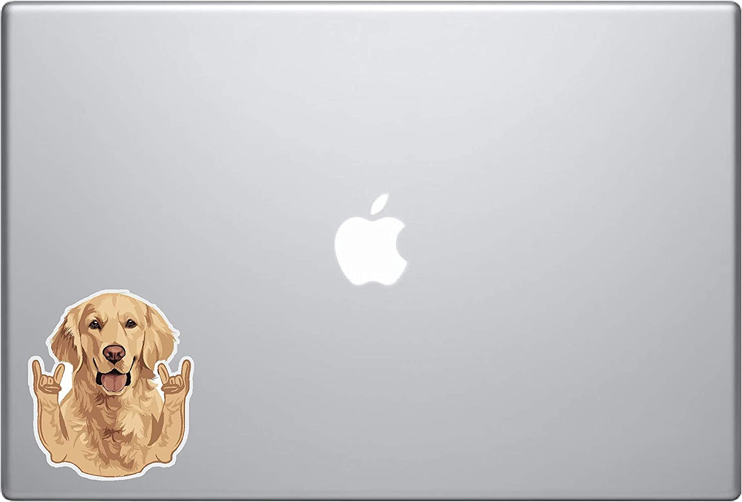 Laptop Notebook Sticker Decal Skins - Golden Retriever Funny Hang Loose arms Skins Stickers