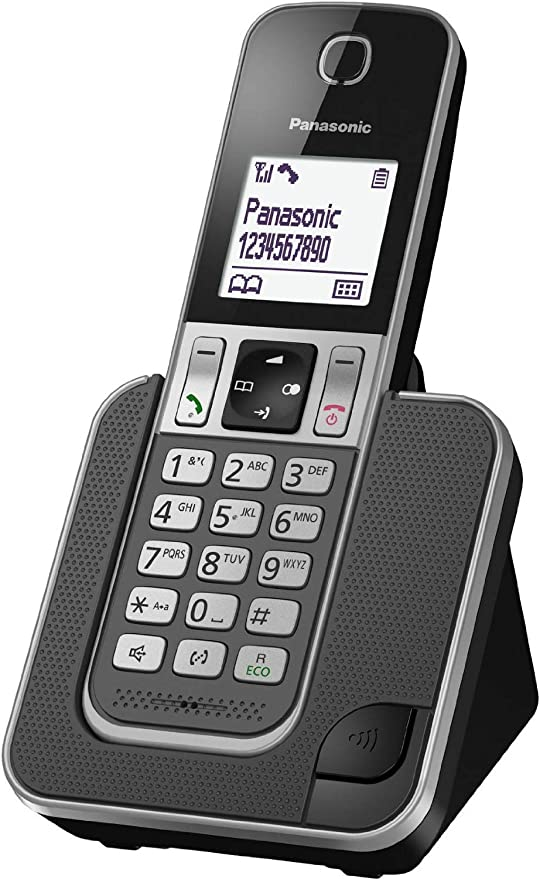 Panasonic KX-TGD310 - Teléfono (DECT, Escritorio, Negro, Color Blanco, Auricular, LCD, 1880000000-1900000000 Hz, Identificador de Llamadas a) Color Negro, Blanco [Versión Importada]: Amazon.es: Electrónica