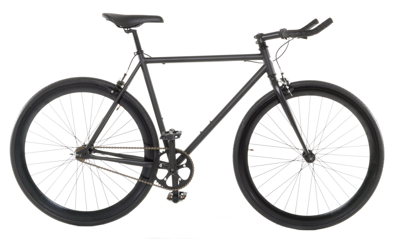 New Fixie Bike Vilano Edge Fixed Gear Single Speed Bike, Medium, Matte Black