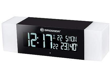 Bresser FM Radio luz Despertador Wake Up Light simulación del Amanecer con función Bluetooth Radio Despertador, plástico, Negro, 23 x 6 x 6.2 cm