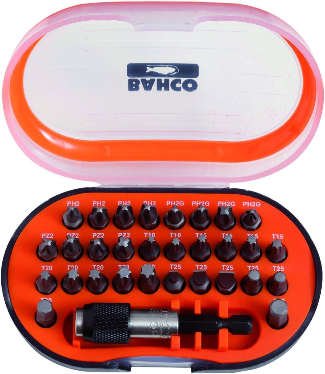 Bahco 59//S31B Bit Set PH Orange//Black TX PZ SL and Hex 31 Piece