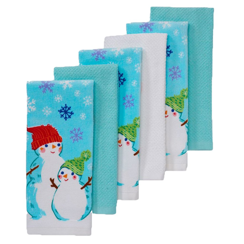 The Big One Christmas Snowman Kitchen Towels 6-pack