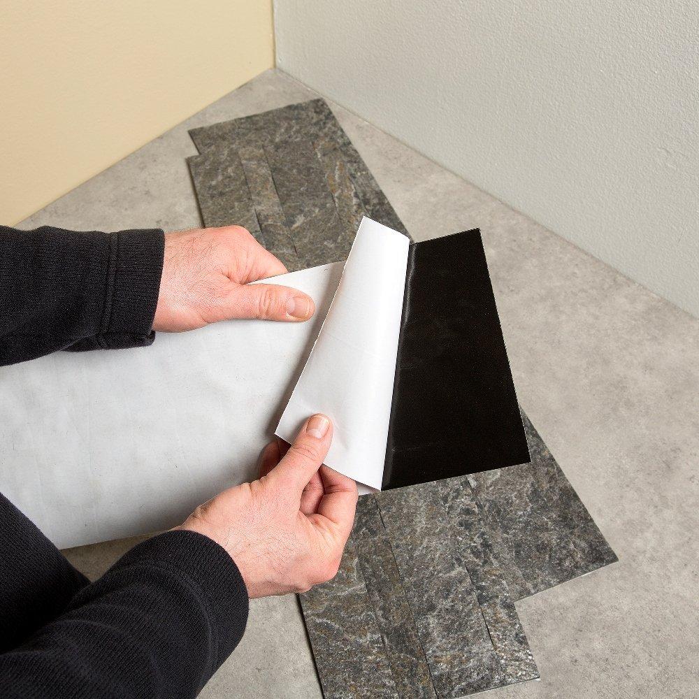 Aspect 6 x 24 inch autumn sandstone peel and stick stone backsplash - Amazon Com Aspect Peel And Stick Stone Overlay Kitchen Backsplash Frosted Quartz 5 9 X 23 6 X 1 8 Panel Approx