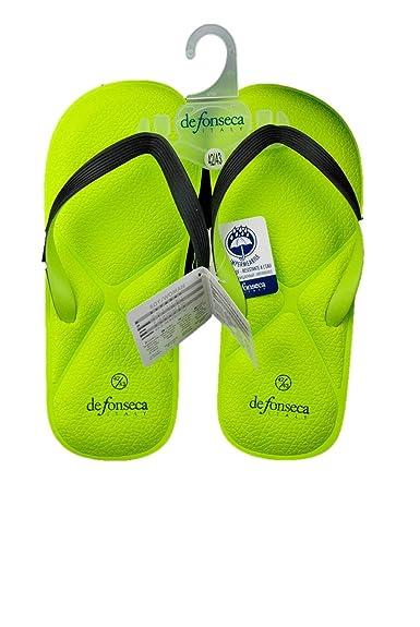 899f6f7f5dc de fonseca Man flip Flops Memory Foam Slippers sea Rubber Swimming Pool  Acid Green