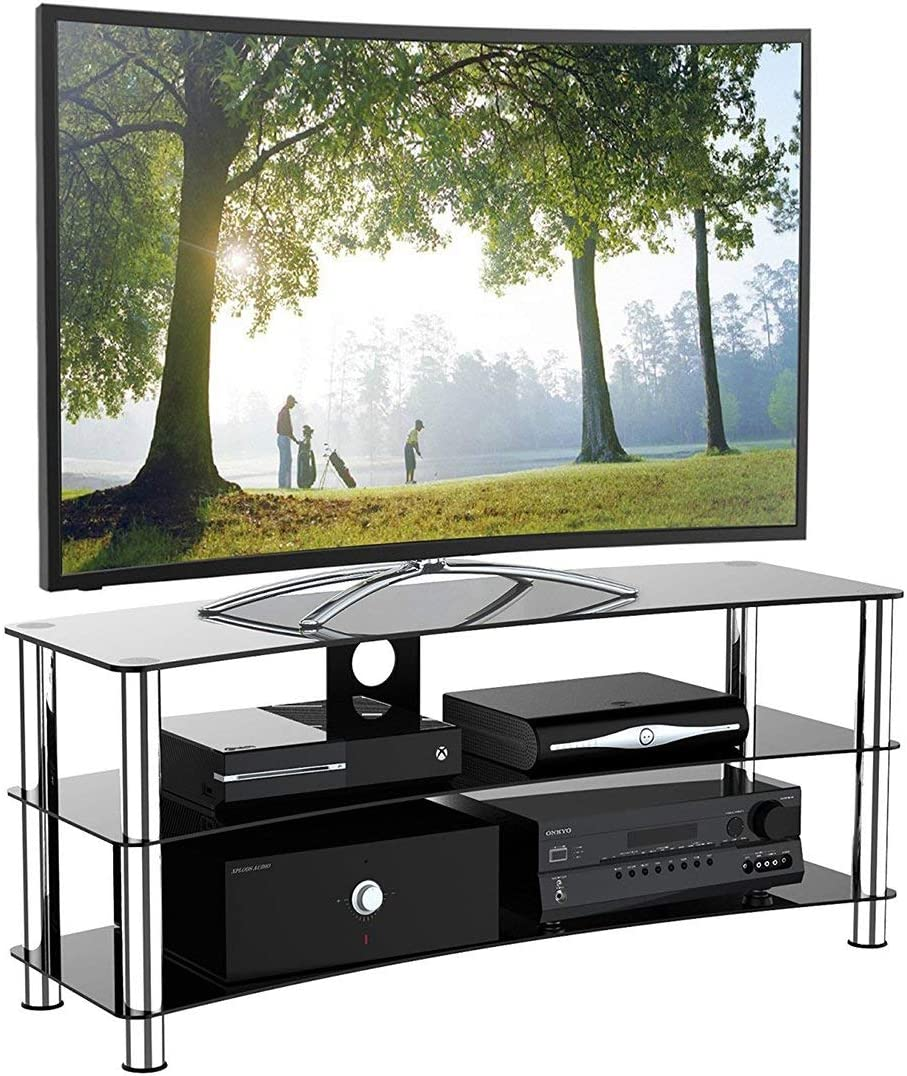 1home Soporte Vidrio Templado Negro de TV para 32-70 Pulgadas 120 ...
