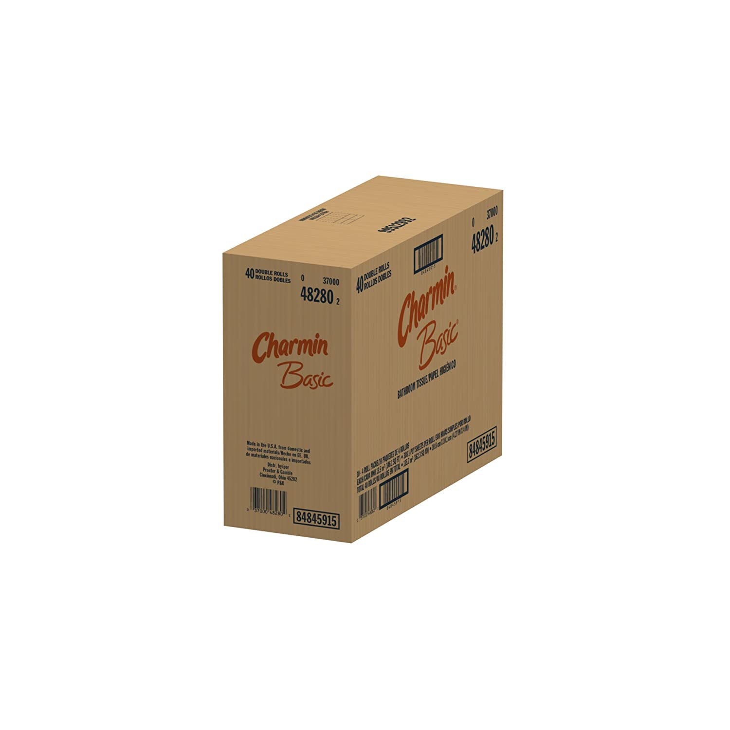 tpcache Amazon.com: Charmin Basic, Double Rolls, 4 Count Pack (Pack of 10) 40 Total  Rolls: Health & Personal Care